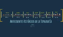 Antecedentes de la Tipografía