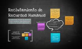 Copy of Reclutamiento de Recursos Humanos