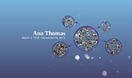 Ana Thomas 1978-2015
