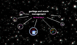garbage and waste management in space