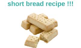 short bread recipe
