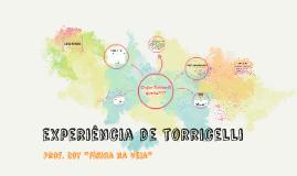 EXPERIÊNCIA DE TORRICELLI
