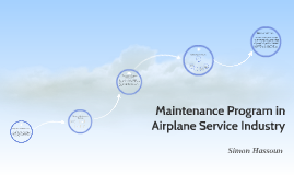 maintenance program in airplane service industry