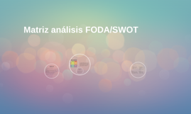 Matriz análisis FODA/SWOT