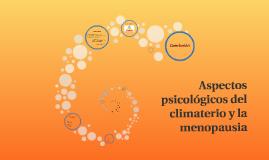 Aspectos psicológicos Menopausia