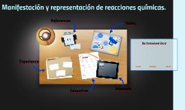 Manifestación y representación de reacciones químicas.