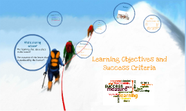 Copy of Learning Objectives and Success Criteria