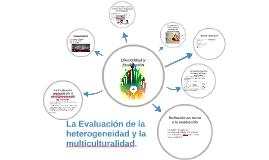 La Evaluación de la heterogeneidad y la multiculturalidad.