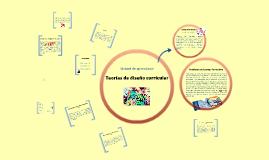 Teorías de diseño curricular
