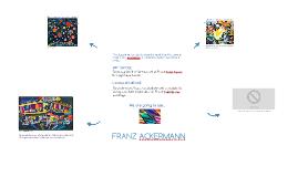 To recognize the German artist Franz Ackermann through his a