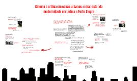 Cinema e crítica em cenas urbanas: o mal-estar da modernidad