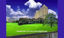 Studenten en hun schoolgebouw