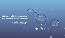 Software en EPS para personas con necesidad de medicamentos