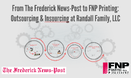 From The Frederick News-Post to FNP Printing and Publishing