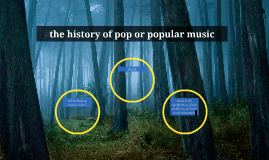 the history of pop or popular music
