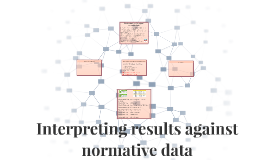 Interpreting results against normative data