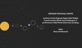 Analisis Kinerja Pegawai Negeri Sipil Melalui E-performance