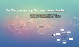 compassion essay analysis
