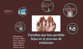 Familias que han perdido hijos en el proceso de embarazo