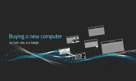 Buying a new computer