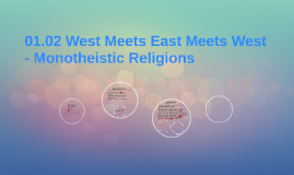 01.02 West Meets East Meets West - Monotheistic Religions