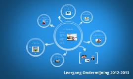 Leergang Ondermijning 2012-2013