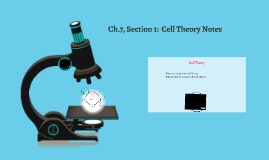 Cell Theory Notes - 2016