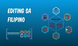 EDITING SA FILIPINO