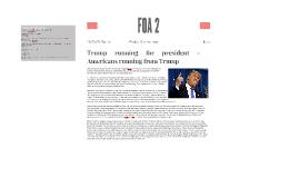 Trump running for president - Americans running from Trump