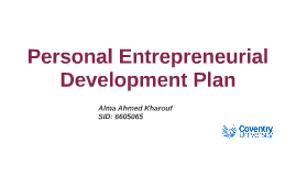 Personal Entrepreneurial Development Plan