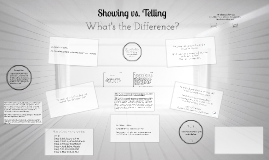 Copy of Showing vs. Telling