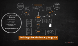 Copy of Building A Local Advocacy Program