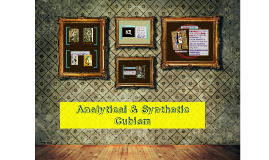 Analytical & Synthetic Cubism