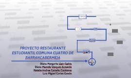 PROYECTO RESTAURANTE ESTUDIANTIL COMUNA CUATRO DE BARRANCABE