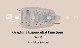 Graphing Exponential Functions 04.05