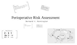 Perioperative Risk Assessment