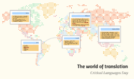 The world of translation