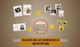 Gestión de un ambiente de aprendizaje
