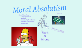 moral absolutism cannot be justified Moral absolutism is not the same as moral universalism (also called moral objectivism) universalism holds merely that what is right or wrong is independent of.