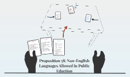 Proposition 58: Non-English Languages Allowed in Public Educ