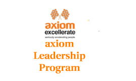 Axiom Leadership Program