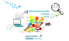 Plan de comunicación Red Cómo Vamos 2015