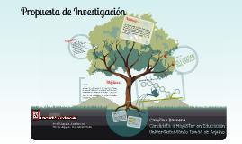 Copy of Propuesta Proyecto investigación (Pedagogía- Psicopedagogía)