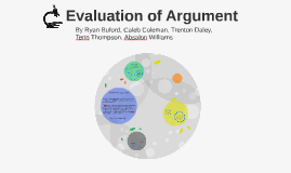 Evaluation of Argument
