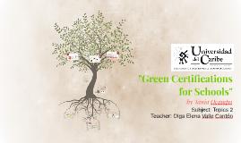 Green Certifications for Schools
