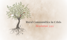 Rural Communities In Crisis