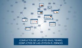 CONFLICTO DE LAS LEYES EN EL TIEMPO, CONCFLICTO DE LAS LEYES