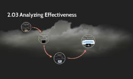 Copy of 2.03 Analyzing Effectiveness