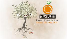 Team Orange Project Presentation(2014. 12. 16. Tue.)