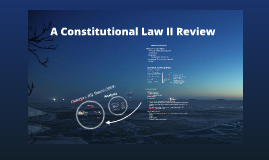 Constitutional Law II Review